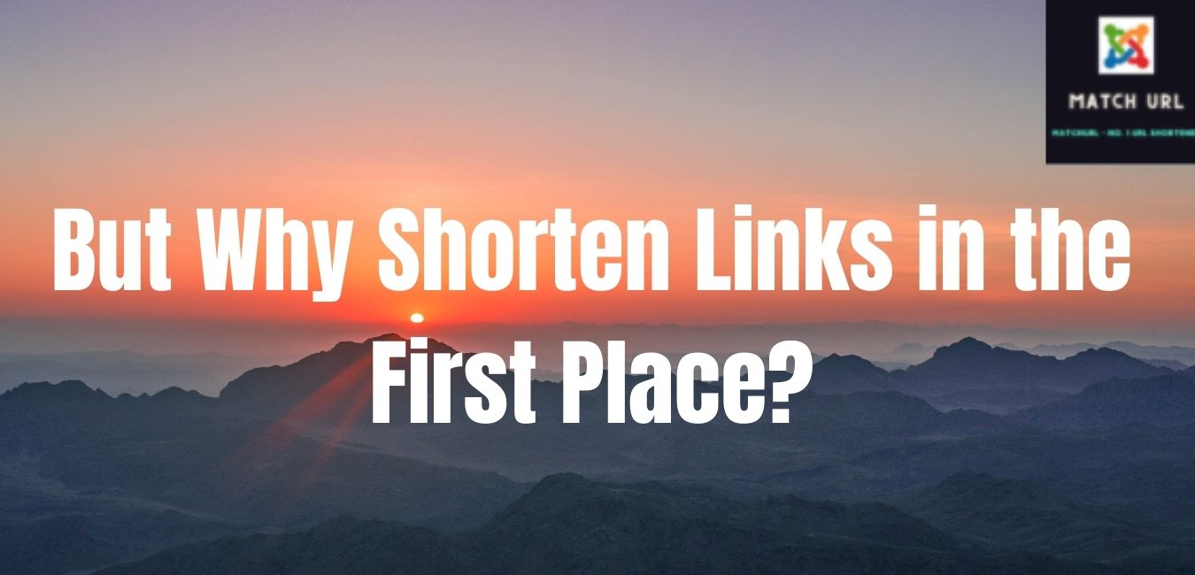 But Why Shorten Links in the First Place?