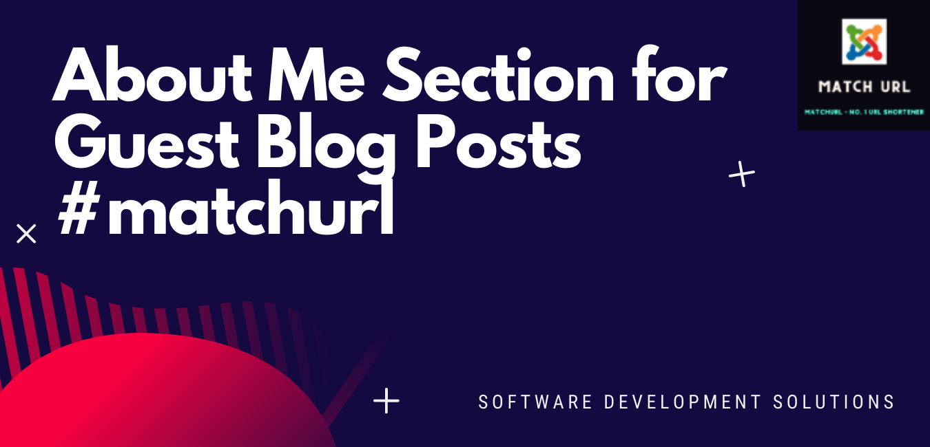 About Me Section for Guest Blog Posts #matchurl