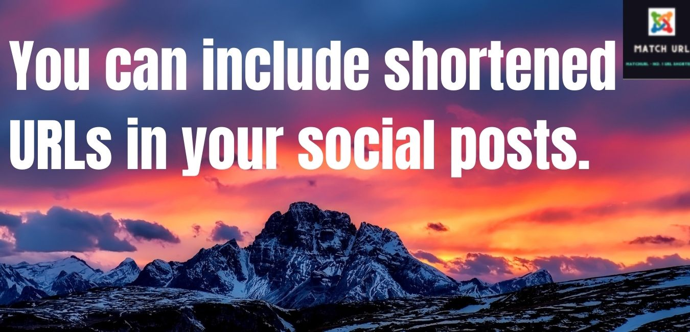 You can include shortened URLs in your social posts.